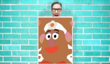 Toy Story Mrs Potato head Art - Wall Art Print Poster   - Kids Children Bedroom Geekery